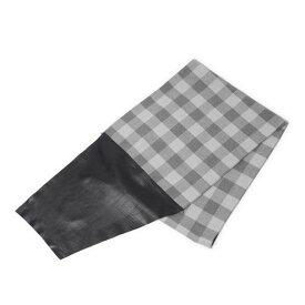 SALE S'FACTORYエスファクトリー レーヨンチェックストール レザーコンビ グレー チェック 柄 メンズ レディース ユニセックス レザー
