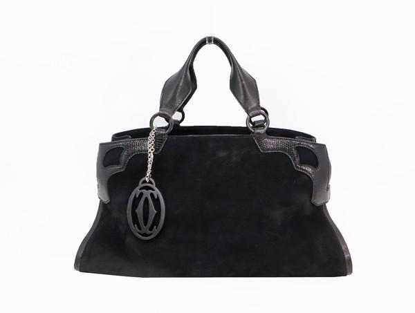 ♪◇【中古】 美品 【Cartier カルティエ】 マルチェロ ハンドバッグ L1000928 ハンドバッグ ブラック
