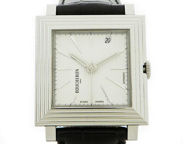 ☆◇【中古】 美品 【BOUCHERON ブシュロン】 キャレ オートマチック WA011301 自動巻腕時計