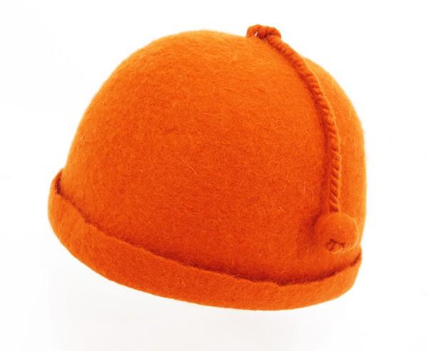 ◇【中古】 新品同様 【HERMES エルメス】 ベビー カシミヤ帽子 帽子 オレンジ