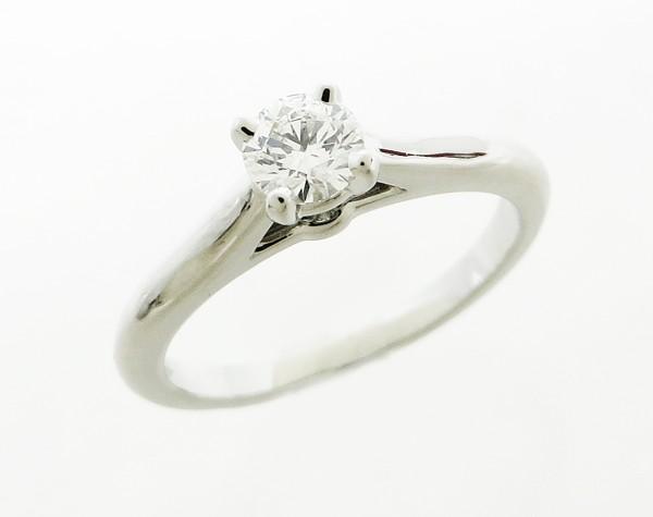 ◇【中古】 【Cartier カルティエ】 Pt プラチナ ソリテール ダイヤモンド リング D0.23ct リング