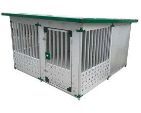 メタルテック ドッグハウス DFD-2 (1坪) 床付 (幅1820×奥行1820×高さ1200mm) ~R~