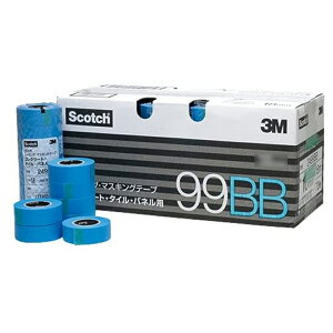 3M 99BB シーリングマスキングテープ コンクリート・タイル・パネル用 21ミリ[60個入] 【取寄】