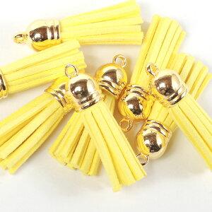 フリンジ タッセル 黄色 イエロー 6個