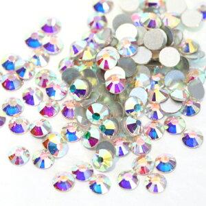 【納期4週間程度】卸専用ガラスラインストーン オーロラクリスタル SS3〜SS20サイズ選択可 約14400粒