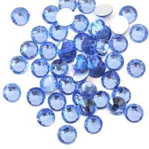【納期4週間程度】卸専用ガラスラインストーン ライトサファイアSS3〜SS30サイズ選択可 SS20まで約14400粒/SS30約2880粒