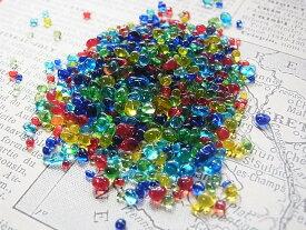 レインボーのたね (ガラスの粒) 10g レジン封入 アクセサリーパーツ デコレーションパーツに最適♪