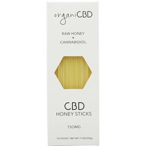 organi オルガニ CBD ハニー 内容量(10本 50g) CBD150mg 1本15mg はちみつ 蜂蜜 オーガニック カンナビジオール MCTオイル ココナッツオイル