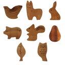 【レターパック可】動物&植物モチーフ 箸置きシリーズ:箸置き インテリア 雑貨 木製