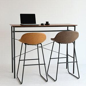 カウンターテーブル 収納 木製 アイアン 北欧 ハイデスク バーテーブル 幅130 高さ100 バーカウンター ハイテーブル パソコンデスク 作業台
