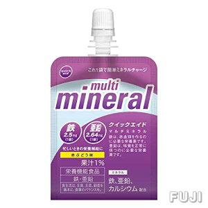 クイックエイド マルチミネラル 180g 30袋 [ 赤ぶどう味 栄養機能食品 ゼリー飲料 ]