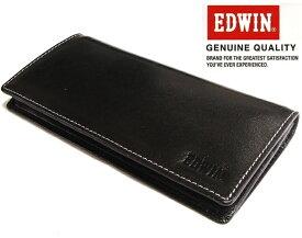 エドウィン EDWIN (牛革) レザーロングウォレット/長財布エドウイン 0510429 ブラック 【あす楽対応】