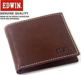 エドウィン EDWIN (牛革) レザーショートウォレット/二つ折り財布 エドウイン 0510430 ブラウン【あす楽対応】
