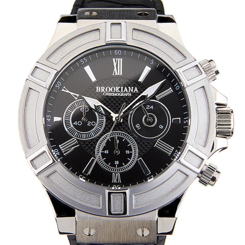 BROOKIANA(ブルッキアーナ)クロノグラフ腕時計 サンダーボルト THUNDERBOLT メンズウォッチ SILVER×BLACK BA2308-SVBK