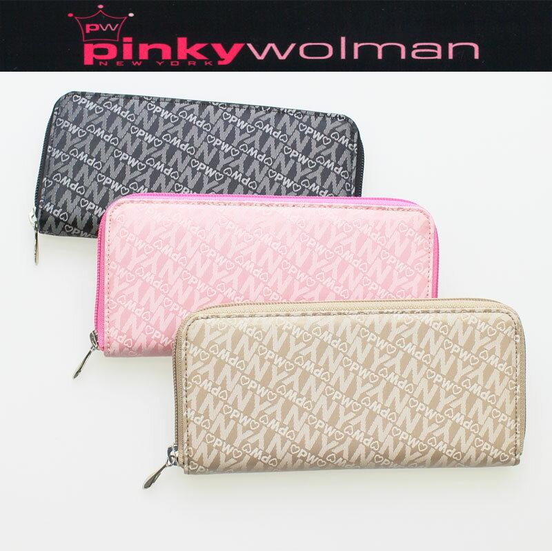 ピンキーウォルマン Pinky wolman Style-G ラウンドファスナーロングウォレット レディース長財布 84043 【あす楽対応】