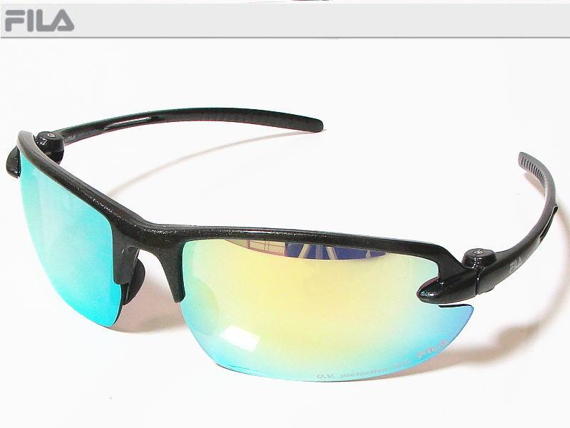 FILA フィラ スポーツサングラス ユニセックス メタリックガン SF4005J-COL50 UV protection lens ゴルフその他スポーツレジャーなどに!【あす楽対応】