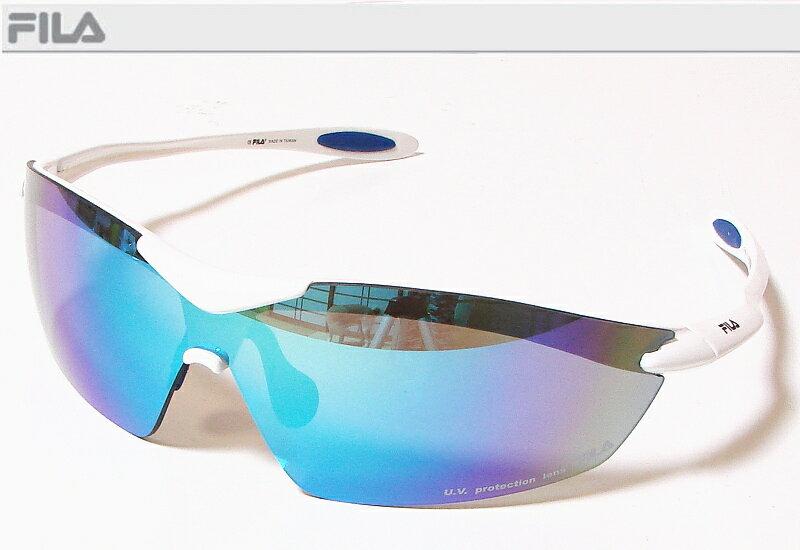 FILA フィラ スポーツサングラス ユニセックス ホワイト SF4006J-COL80 UV protection lens ゴルフその他スポーツレジャーなどに!【あす楽対応】