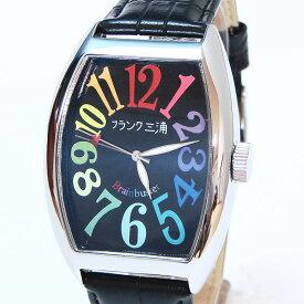 フランク三浦 復活!!新もでる Frank MIURA 腕時計 レインボーブラック FM06K-CRB 【あす楽対応】