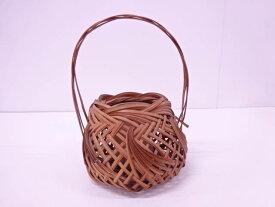 【茶道具】竹編み手付花籠【送料無料】