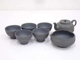 【煎茶道具】青備前煎茶器セット【送料無料】