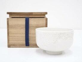【72時間タイムセール30%オフ!】【茶道具】出石焼 作家物 白磁茶碗(保護箱)【送料無料】