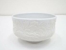 【茶道具】出石焼 山本秀壷造 白磁茶碗【送料無料】