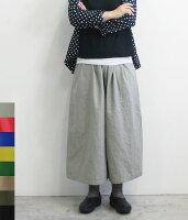 CUORESTORE(クオーレストア)コットンリネンワイドパンツ【メール便NG】