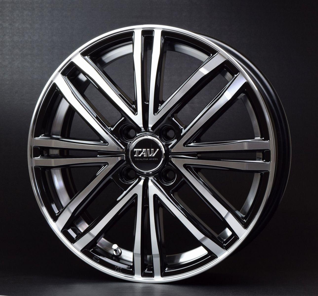 TRYALPHA トライアルファ Leowing レオウイング PS Four ピーエスフォー アルミホイール 単品1本 16インチ ブラック系 5.0J PCD100 4穴 スポーク Kカー