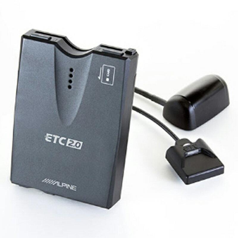 アルパイン ALPINE ETC車載器 ETC2.0車載器 ETC 本体 セットアップなし 光ビーコンレシーバー付 音声案内 料金表示 HCE-B110V