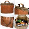 AIP!受歡迎的名牌供較大男子アンアメリカンインパリストートバッグ(大)01007039商務手提包A4男性使用的皮革fs3gm