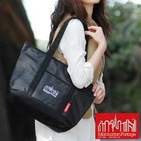 【P28倍11/15限定※Rカード】【正規店】Manhattan Portage トートバッグ 【MP Logo Printed Cherry Hill Tote Bag】 MP1306zp (Mサイズ)メンズ ギフト 人気ブランド A4 誕生日プレゼント 軽量【P10倍】 送料無料 プレゼント ギフト ラッピング