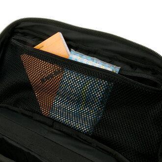 リュックサックの正面にあるファスナーポケット画像