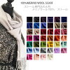 All stall pashmina wool scarf merino wool nature material large size Lady's men pashmina stall wool 100% wedding ceremony shawl 40 colors in the fall and winter in the fall and winter
