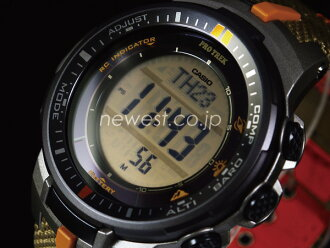 CASIO Casio proto Lec / Pathfinder PRW-3000B-5 beige X orange foreign countries model watch