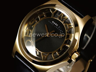 MARC BY MARC JACOBS Marc by Marc Jacobs Henry Skelton Henry skeleton MBM1246 black x gold watch