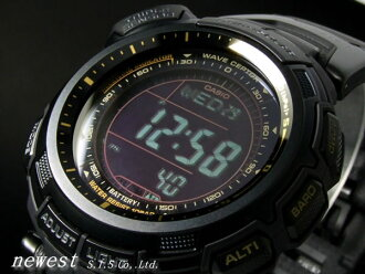 Casio PROTREK protrek flat-panel solar radio with triple sensor PRW-1300YJ-1JF watch