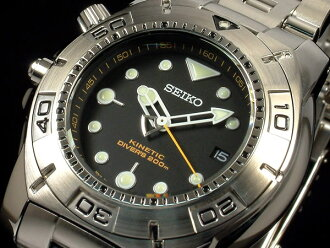 SEIKO KINETIC kinetic diver SKA293P1 black foreign countries model