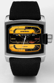 DIESEL diesel watch DZ1456 Black × Yellow mens DZ-1456