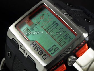 TIMEX Timex遠征WS4(Wide Screen 4 Function)T49665黑色×柳丁手錶