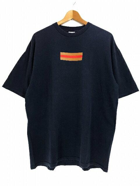00SS SUPREME Gucci Box Logo S/S Tee (NAVY) XL シュプリーム グッチ ボックスロゴ 半袖 Tシャツ 紺 ネイビー グッチカラー 初期 つるタグ 【中古品】