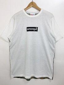 13SS SUPREME × COMME des GARCONS Box Logo S/S Tee L シュプリーム コムデギャルソン ボックスロゴ 半袖Tシャツ デジタルカモ ドット 【中古】