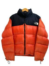 """90s THE NORTH FACE Nuptse Jacket """"MANGO ORANGE"""" M ノースフェイス ヌプシジャケット ダウンジャケット アウトドア マンゴーオレンジ 【中古】"""
