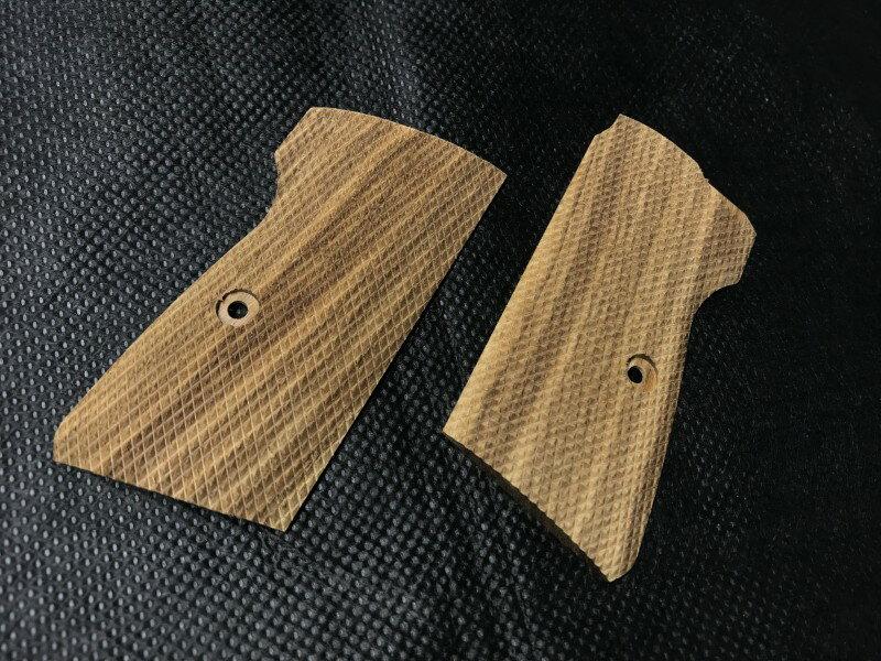 キャロム マルゼンPPK/S 紫檀フルチェッカー(重り収納) 木製グリップ【小型郵便発送OK!】