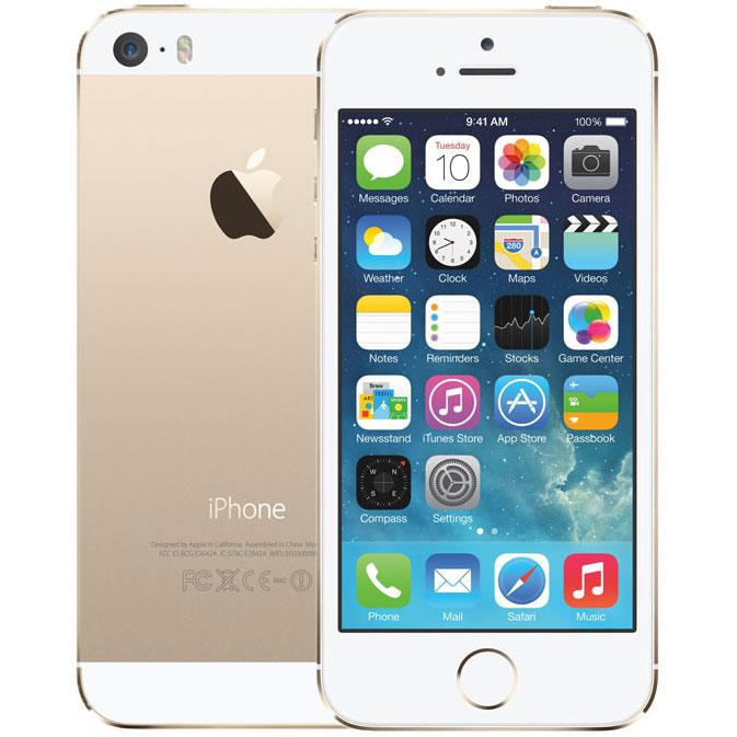 アップル iPhone 5s SIMフリー モデル 16GB ゴールド 修理完了品