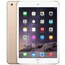 【お買物マラソン期間ポイント2倍!】アップル iPad mini3 Wi-Fi + Cellularモデル A1600 SIMフリー 64GB ゴールド 整備済み品 格安SIM 対応 タブレット