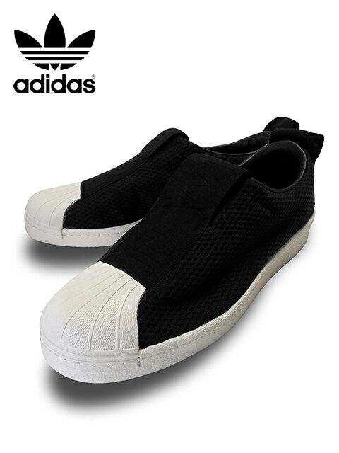 """【楽天最安値に挑戦】【あす楽対応】【楽ギフ_包装】【メンズ レディース スニーカー・ブラック】adidas Originalsアディダス オリジナルス【SUPERSTAR BW35 SLIPON W】""""スーパースタースリッポン"""""""