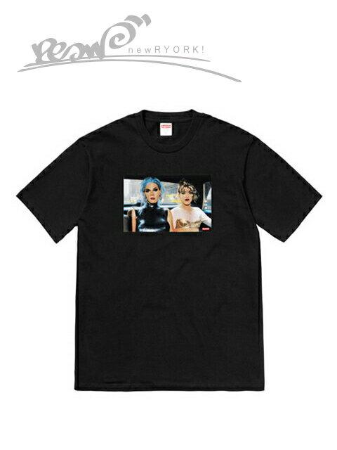 """【送料無料】【あす楽対応】【楽ギフ_包装】【メンズ Tシャツ・ブラック】Supremeシュプリーム【Nan Goldin/Supreme Misty and Jimmy Paulette Tee】【SS18】【M L】""""シュプリームナンゴールディンコラボフォトTシャツ"""""""