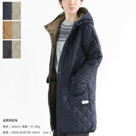 ARMEN(アーメン) PLAIN HEAT QUILT REVERSIBLE HOODED COAT(NAM1753PP)