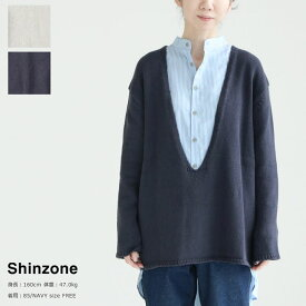 SHINZONE(シンゾーン) CO/CA LOW KNIT(20AMSNI03)
