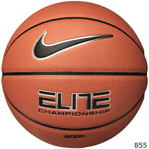 NIKE ナイキ バスケットボール 7号球エリート チャンピオンシップ 8P アンバー/ブラックBS3023-855